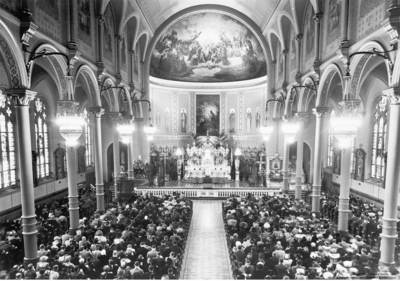 Interior of St. Stanislaus Kostka, 1942